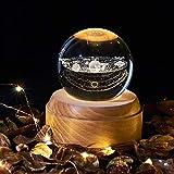 La caja de música, Bola de cristal con la luz de la noche caja de...