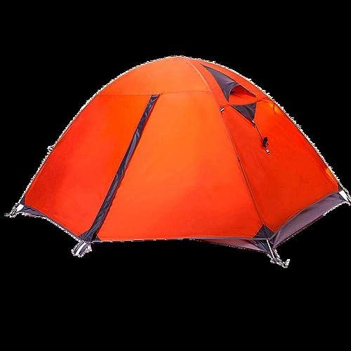 SXBB Tente de Camping Sauvage Construction de Tente Manuelle Tente Double Plusieurs Personnes Vent et Pluie