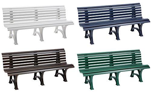 Parkbank Borkum weiß Blome 4-Sitzer - 4