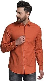 ID Men Orange Slim Fit Shirt