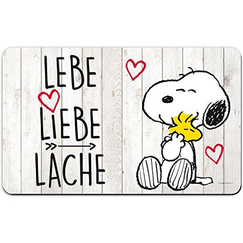"Snoopy Brettchen  ""Lebe, Liebe, Lache"""