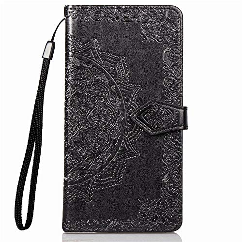 Jeewi Hülle für Xperia 10 Plus Hülle Handyhülle [Standfunktion] [Kartenfach] [Magnetverschluss] Tasche Etui Schutzhülle lederhülle klapphülle für Sony Xperia 10 Plus - JESD011480 Schwarz