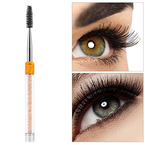 Brosse à cils - 4 couleurs Peigne à sourcils Brosse à sourcils Mascara Wands Applicateur Spooler Extension de cils Outil(jaune)