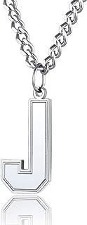 """گردنبند حروف مونوگرام خیره کننده ChainsPro مردان / زنان ، جذابیت اولیه A تا Z با زنجیر -22 2 """"-قابل تنظیم ، فولاد ضد زنگ 316L / اندود طلای / سیاه (ارسال جعبه کادو)"""