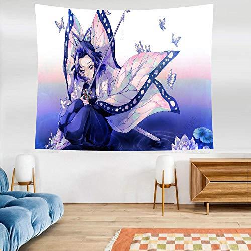 Tapices,HD Anime Arte De Espada En Línea Tsuyuri Kanawo Personalidad Juegos Arte Cortinas Colchonetas De Yoga Sábanas Habitación Infantil Decoración del Hogar Size D
