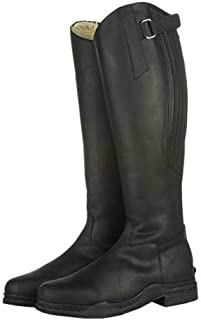 Hkm Ladies Country 'Artic' Leather Horse Riding Yard Boots Length Standard Width (Black, Euro 42 UK 8)