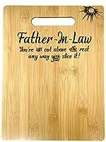 誕生日の父の誕生日、クリスマス、父の日のギフトに最適。竹製まな板。9インチ×12インチ。