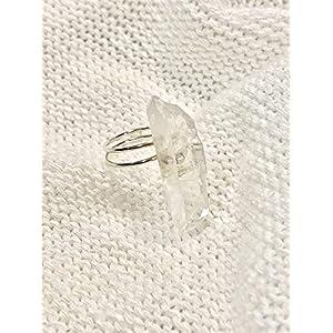 Boho Clear Quartz Silver Ring