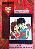 Personalised cards for your loved and dear ones Designer book greeting card in which you can paste your own photos and write messages for your loved ones for all the occassions. Use of eco-friendly papers that make cards durable and long lastings as ...