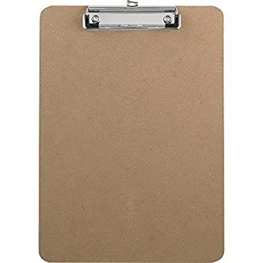 Saunders Advantage Hard Board Clipboard with Low Profile Clip, Standard Letter Size (12-Pack)