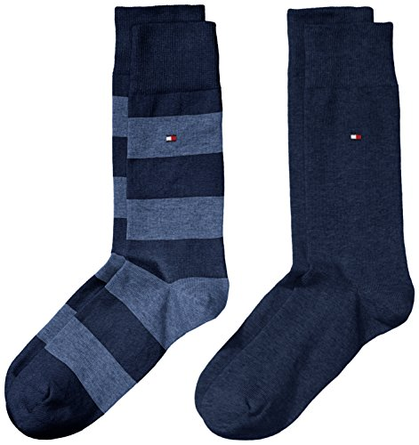 Tommy Hilfiger 342021001, Calcetines para Hombre, Azul (