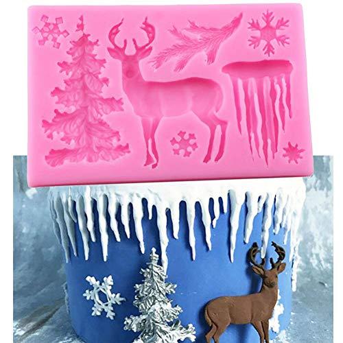 Moldes De Silicona De Copo De Nieve Para Árbol De Navidad, Molde De Fondant Para Decoración De Cupcakes, Herramientas De Decoración De Pasteles Para Fiestas Diy, Molde Para Chocolate Y Caramelo