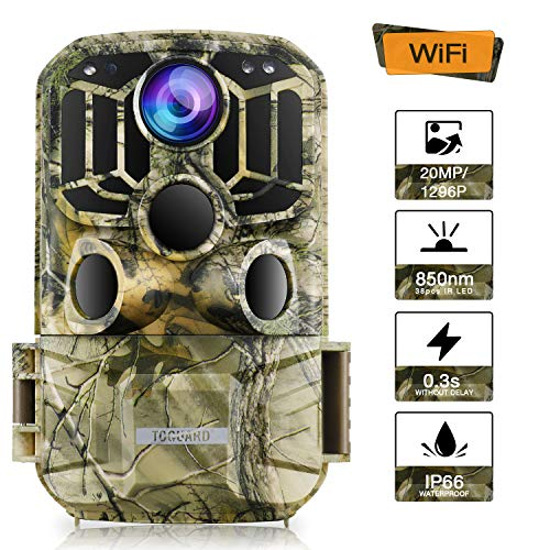 TOGUARD WiFi Trail Camera 20MP 1296P Game Camera Motion...