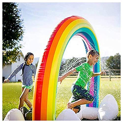 Splash pad Sprinkler Speelkleed Opblaasbare regenboog Splash Speelkleed Zomertuin waterspeelgoed voor baby, kinderen, hond en huisdieren buiten