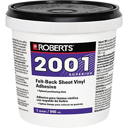 Roberts 2001-0 1 Quart Felt-Backed Sheet Vinyl Flooring Adhesive