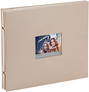 Rössler 12297146004 Memories Album à vis à tête articulée Taupe métallisé 15 feuilles 280 x 240 mm