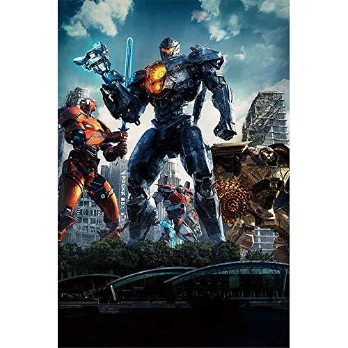 Wandaufkleber Transformers Key Art - Wasserdichter Poster-Wandaufkleber - 90 X 60 Cm (36 X 24 Zoll) Leicht Klebende Pads Für Einfache Wandbefestigung, D