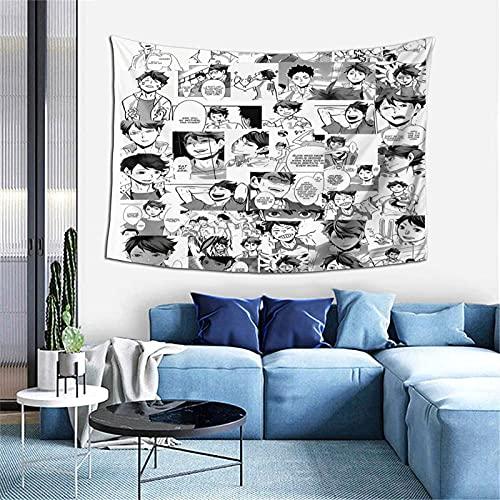Haikyuu! Oikawa Wandteppich, Mandala-Wandbehang, indische Baumwolle, Strand-Überwurf, Decke, Hippie-Wandteppich, Boho-Dekor, Doppel-Tagesdecke, Yoga-Meditationsmatte, Teppich, 101,6 x 152,4 cm