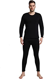 Liang Rou Men's Thick Fleece Lined Thermal Underwear Set