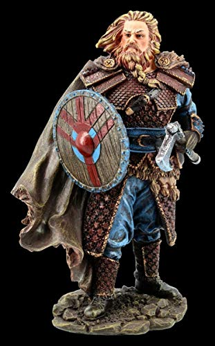 Vikingo Figura - Björn con Hacha Guerrero,Figura Decorativa,Artículo Decorativo, Sammel-Figur, H 18,5 CM