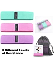 Mainstayae 3pcs Exercise Resistance Bands for Legs and Butt Thicken Anti-Slip & Roll Workout Booty Bands Mini Hip Circle Loop Sliders Fitness Thigh Glute Bands