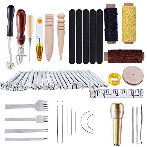 Bordura Punch stitching agujas set Stainless Steel Needle herramienta de