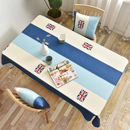 YCZZ waterdicht Koreaans tafelkleed driehoekig geometrisch tafelkleed, bedrukt salontafel rond tafelkleed, woonkamer rechthoekig tafelkleed tafelkleed