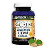 B-Calm Daytime/Nighttime 24 Hour Support by Doctors Nutra Nutraceuticals - All Natural Anxiety Relief, Stress Support - Ashwagandha, L-Theanine and More - Helps Reduce Anxiety and Stress - 60 Count