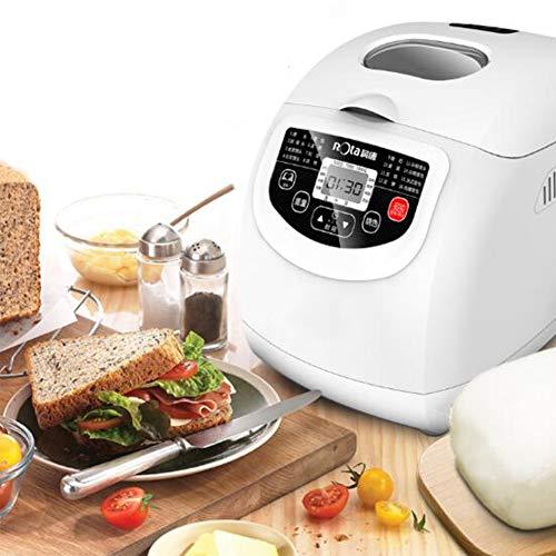 WFLRF Panificadoras, Máquina para Hacer Pan, Tacto Totalmente Automático, Pantalla LCD, Tres Colores Quemados, Pasta, Hornear, Yogur, Tiempo De Cita