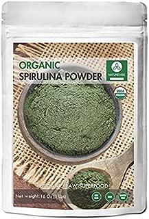 Polvo de espirulina orgánica - 100% puro y natural (16 onzas)