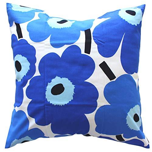 marimekko PIENI UNIKKO クッションカバー 45cm×45cm (クッション中綿なし)/ホワイト&ブルー