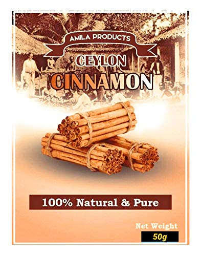 NIKO Ceylon Cinnamon Sticks (50g Resealable Pouch) Delicate, Sweet & Aromatic / No GMOs & Additives / Direct from Plantation/ True Sri Lankan Cinnamon