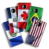 atFoliX Diseño Pegatina Compatible con Microsoft Lumia 950 XL, Elija su diseño Favorito, Design Skin (Banderas de América)