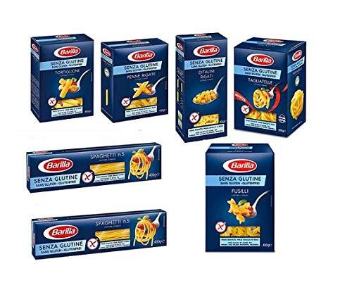 TESTPAKET Barilla senza Glutine Glutenfrei pasta nudeln 1 x 300g und 6 x 400G