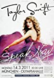 Taylor Swift Speak MUC 2011 - Original Konzertposter,