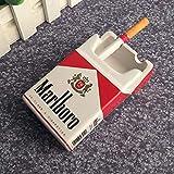 posacenere CDFSG personalità Tabacco Sigaretta Casella di Cenere Design Moda Camera da Letto Soggiorno Ash Vassoio 10 * 6 * 4cm 2
