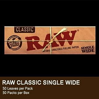 【少量パック】【無添加】手巻きタバコ用ペーパー RAWクラシック ローリングペーパー・シングル・70mm(50枚入) 10個パック