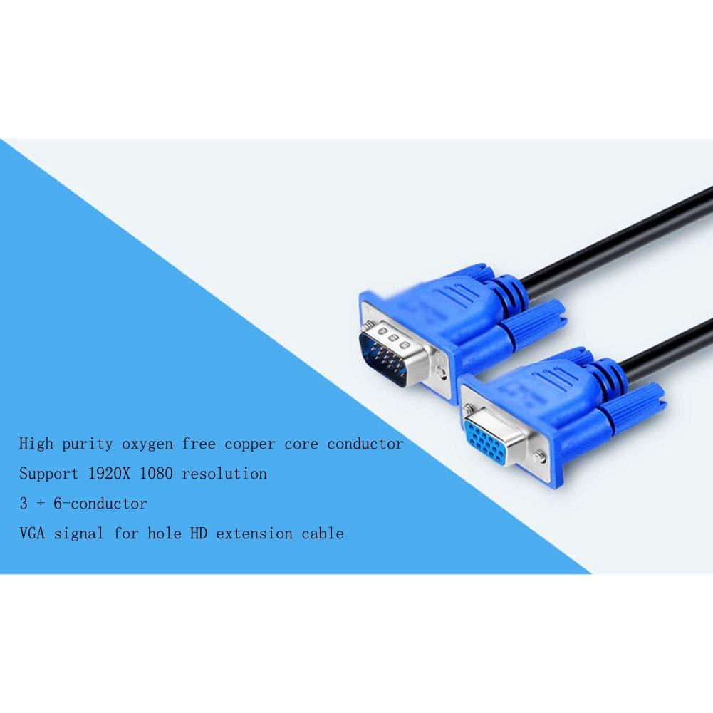 Cable de extensión VGA, macho a macho, cable de datos de monitor de computadora 1080P, for proyectores, televisores de alta definición, pantallas, CCTV, línea de computadora portátil HD (30 m): Amazon.es: Hogar
