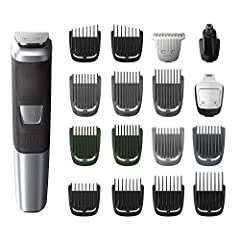 All in 1 trimmer for face, head and body styling: 18 pieces for all your trimming needs Maximum precision with DualCut technology includes 2x more self sharpening blades that remain after 4 years of use Lithium battery delivers 3 hours of cordless ru...