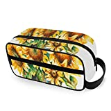 Bright Yellow Sunflower Travel Bags for Toiletries with Zippers Travel Toiletries Carry-on Travel Accessories Travel Makeup Bag for Men and Women Travel Size Toiletries for Toiletries A