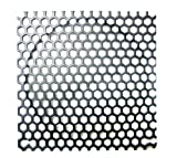 140mm Steel Mesh Filter Grill w/Large Honeycomb 6mm Holes - Black