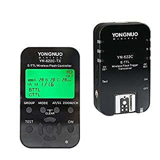 YONGNUO YN622C-KIT Wireless E-TTL Flash Trigger Kit with LED Screen for Canon Including 1X YN622C-TX Controller and 1X YN622 C Transceiver (B00NW3KNZO) | Amazon price tracker / tracking, Amazon price history charts, Amazon price watches, Amazon price drop alerts