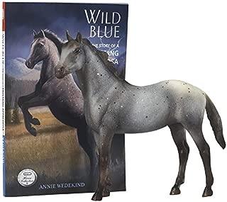 breyer classics wild blue: book and horse toy set
