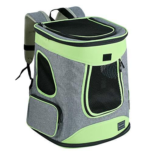 Petsfit Haustier Rucksäcke für Hunde und Katzen Faltbarer Hunderucksack Katzenrucksack mit internem Sicherheitsgur tragbare Tragetasche maximale Last 10kg
