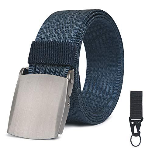 flintronic Cinturón Táctico, Cinturón Militar de Nylon Militar Táctico Resistente con Correa de Liberación Rápida 125 * 3.5cm, Durable y Cómodo y Totalmente Ajustable - Azul