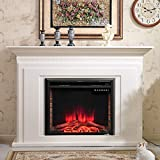 VeenShop 30' Black Fireplace Electric Embedded This is The Embedded Fireplace which is Quite Ideal for Your Home or Office. 750W-1500W