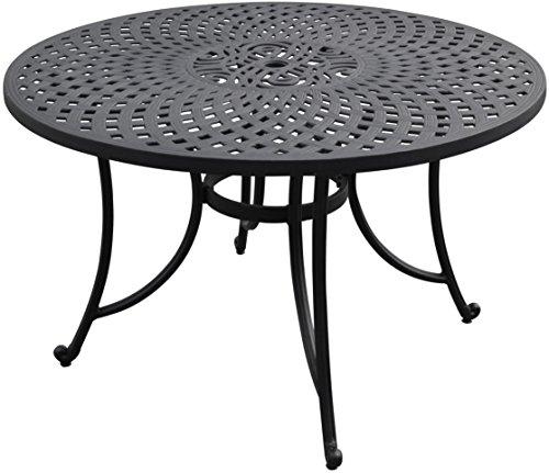 Crosley Furniture Sedona Solid-Cast Aluminum Outdoor Dining Table, 46-inch, Black
