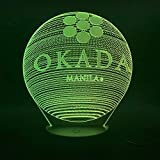 3D Table Lamp Okada Hotel Manila Awesome Gift Children Colors Led Night Light Table Lamp Indoor Decoration