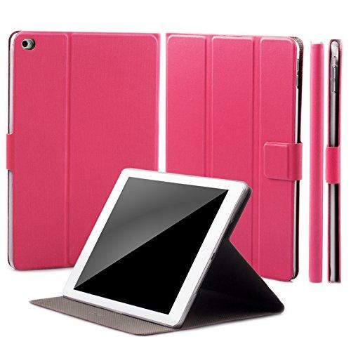 iCues Apple iPad Mini 4 Manzano Bolsa | 360 la función del Soporte del Pavo Real del Rosa | Soporte Prima Extra Ligero de Cuero Muy Fino - Libro bisagras Caja Protect Funda Carcasa Bolsa Cover Case