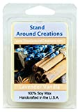Stand Around Creations 100% Soy Wax Melt Tart - Lavender Vanilla- A Blend of Herbal Lavender w/Calming Vanilla. Made w/Natural Essential Oils, Including Lavender 3oz.